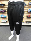 NEW ADIDAS Core 15 Three-Quarter Men's Training Pants - Black/White:  M35319