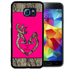 PERSONALIZED RUBBER CASE FOR SAMSUNG NOTE 8 5 4 3 HOT PINK CAMO DEER HEAD