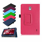 Folio PU Leather Case Cover for ProntoTec A8 A8S 7 Inch Tablet with Stylus Loop