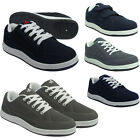 Men's Trainers Blue Canvas Lace Up Casual Skate New Shoes Size UK 7 8 9 10 11 12