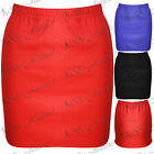 Ladies New Office Pencil Bodycon Stretchy Short Womens Mini Skirt Plus Size 8-22