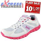 Lonsdale Womens Salkeld Running Fitness Gym Trainers Pink AUTHENTIC