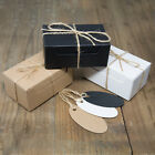 ECO KRAFT Small Rect Natural GIFT BOXES Wedding Favour | Includes String/Tags