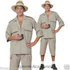 CSW17 Mens Safari Suit Jungle Desert Crocodile Hunter Explorer Fancy Costume