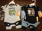 bon Be'be', Baby Boy, 3 Piece Outfit, Blue, Booties, Pant, Short Sleeve Onsi NWT