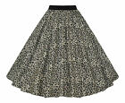 Ladies 50's Vintage Style Leopard Elasticated Waist Rockabilly Skirt 8-20 New