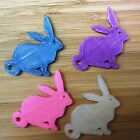 Easter Rabbit - Bunny for Pendants, Charms or Keychain - 3D Printed Plastic