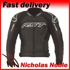 RST TRACTECH EVO II 1425 CE ARMOURED LEATHER SPORTS MOTORCYCLE JACKET BLACK