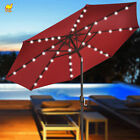 BRAND NEW  9' SOLAR 40 LED LIGHTS PATIO UMBRELLA GARDEN OUTDOOR SUNSHADE MARKET