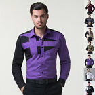 New 2015 Awesome Mens Smart Formal Casual Slim-Fit Dress Shirts S M L XL