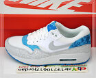 2015 Nike Wmns Air Max 1 Print White Grey Blue 528898-101 US 6~8.5 NSW 1 Running