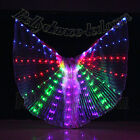 LED isis wings glow show parade belly dance cabaret club wear solid rainbow new
