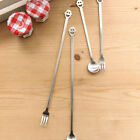 Tea spoon or Fruit fork coffee pie forks cake pastry long short Stainless steel
