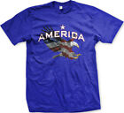 America Star Eagle Red White Blue Flag Colors USA Pride Country Men's T-Shirt