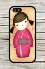 ASIAN KOKESHI DOLL PINK #3 CASE FOR iPHONE 4 , 5 , 5c , 6 -axs34