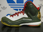 NEW ADIDAS D Rose 5 Boost Mens Basketball Shoes - Green/White:  C76493