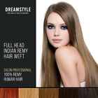 20% off Full Head 100% Remy Human Hair Extensions Weft Professional Colour