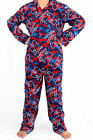 Mens AFL Licensed Flannel 2pc PYJAMAS Pjs MELOURNE DEMONS Sz S M L XL