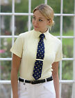Shires Ladies Short Sleeve Riding Show Showing Tie Shirt Yellow or White or Blue