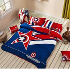 *** Captain America Queen Bed Quilt Cover Set - Flat or Fitted Sheet ***