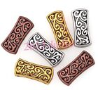 5Pcs/20Pcs Tibetan Silver Carved 3-Hole Spacer Bar Beads Charms 26x11.5mm