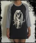 Unisex King Cobra Snake Raglan 3/4 Length Sleeve Baseball T-Shirt (Vest Jumper)