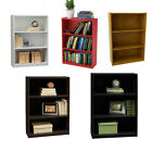 3 Shelf Bookcase With 2 Adjustable Wood shelves Bookshelf Furniture Storage New