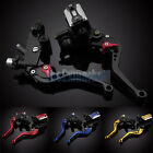 "7/8"" 22mm 4 Color Clutch Brake Levers Master Cylinder Kit For YZF R1 R6 R6S FZ"