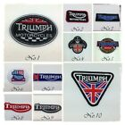 TRIUMPH Embroidered Sew Iron On Patch Motorcycles Mortor Bike Biker Jacket Logo