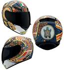 AGV K3 Dreamtime 46 Valentino Rossi Full Face Motorcycle Helmet Orange Blue