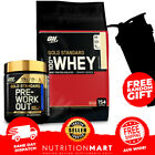 ON GOLD STANDARD STACK - 100% WHEY PROTEIN 10lb + PRE WORKOUT POWDER