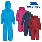 Trespass Babies Rainsuit Hooded Waterproof All in One Breathable Suit Button