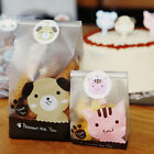 Cute Dog Cello Cellophane Party Candy Sweet Cookie Lunch Gift Bags & Stickers