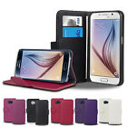 NEW FLIP LEATHER WALLET CASE COVER STAND FOR SAMSUNG GALAXY S6 SCREEN PROTECTOR