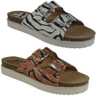 NEW WOMENS LADIES GIRLS BUCKLES SLIP ON FLAT COMFY FLATFORMS SHOES SANDALS SIZE