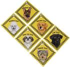 Taxi Dog, Puppy, Animal Plastic Window Sign with Suction Cup 6 Breeds Available