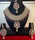 Indian Bollywood Gold Plated Fashionable Bridal Jewelry Necklace Set