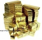 Gold Cotton Filled Gift Box Jewelry Craft Collectibles Packaging Boxes Wholesale
