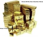 Внешний вид - Gold Cotton Filled Gift Box Jewelry Craft Collectibles Packaging Boxes Wholesale
