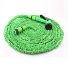 25-100 FT Expanding Rubber Garden Car Washing Water Hose Pipe w / Spray Nozzle
