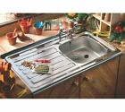 Contract Kitchen Sink Sit/Lay On Roll Top Single Bowl & Drainer 1000 x 600mm New