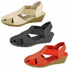 DOWN TO EARTH F10428 Ladies Wedge Sling Back Sandal