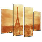 MSC174 Eiffel Tower Aged Image Canvas Wall Art Multi Panel Split Picture Print