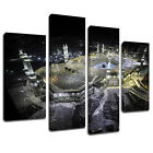 MSC421 Mecca Madina Holy Land Canvas Wall Art Multi Panel Split Picture Print