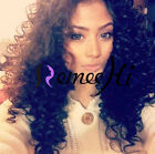 "14"" ~ 20"" Full/Front Lace Wigs Brazilian Remy Human Hair Lucy Curly Density 150%"