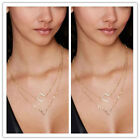 Fashion Jewelry 2-Layer Necklace Chic Hamsa Hand Infinity Charms Gold Silver