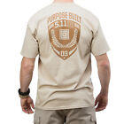 5.11 TACTICAL PURPOSE BUILT LOGO MENS COTTON T-SHIRT ARMY PATROL GRAPHIC TEE TAN