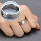 6MM Stainless Steel Love Eternity Promise Wedding Band Ring Gift Unisex us9-12