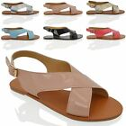 WOMENS FLATS SLING BACK MENORCAN LADIES SUMMER BEACH HOLIDAYS CASUAL SANDALS