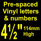"QTY of: 9 x 4½"" 114mm HIGH STICK-ON  SELF ADHESIVE VINYL LETTERS & NUMBERS"